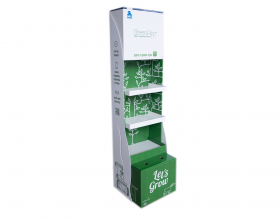 סטנד בהתאמה אישית מקרטון משולב PVC לחברת ברמד מערכות מים